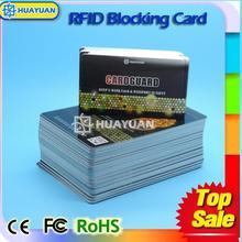 laser barcode rfid blocking card protector RFID Blocking card for protecting info in wallet