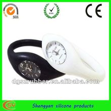 exquisite negative ion silicone ring watch for girls
