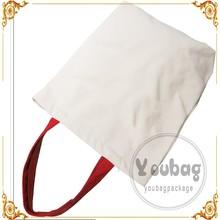 eco friendly plain yellow cotton tote bag, cotton canvas bag