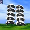 grey and Black Plain Neoprene golf iron head covers
