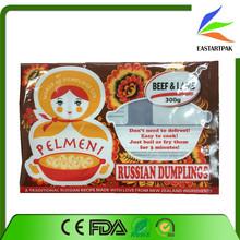 Food grade laminated plastic frozen food packaging bag/dumpling packing bag/plastic frozen food bags