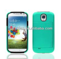 For Samsung Galaxy S4 2 in 1 hybrid hard case with credit card holder
