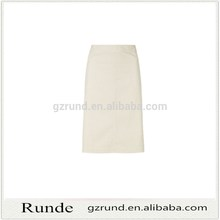 Elegante de las para mujer beige color de larga falda lisa caliente de la falda de la venta en alibaba