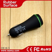 Logo Customized Rubber Oil Coated 5v 3100ma Car Aerial Adapter