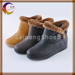 Bleck/brown/Yellow winter shoes High quality durable winter boots shoes