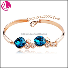 925 sterling silver crystal bangle bracelet custom zircon bracelet gold jewellery
