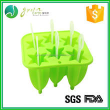 wholesale Ice cream tools diamond shape personalized custom large silicone ice cube tray