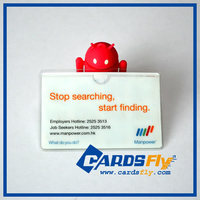 Plastic cover for id cards
