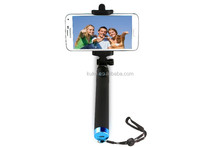 All in one channel monopod bluetooth selfie stick for apple mobile phone