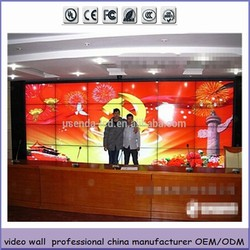 55inch 3.5mm ultra narrow bezel remote controlled lcd tv walls with LG original LCD panel