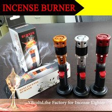 C-10 ball style click N vape incense burner incense vaporizer smoking pipe dry herb tobacco lighter refill gas lighter