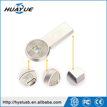 The wholesale metal Custom USB high speed golden bar with Logo Printed USB flash drive 2.0/3.0 8g 16g 32g