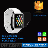 Full Cover !! Japan TPU Material HD Clear Smart Watch screen protector for Apple Watch
