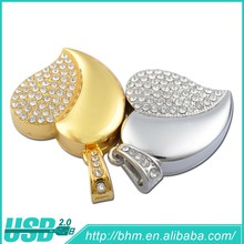Heart Shaped Diamond Jewelry USB Flash Disk/OEM Crystal flash drive /promotional gift