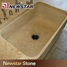 Retângulo pedra de granito pia da cozinha
