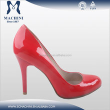 Patent plaid leather sexy red women dress shoe female shoes