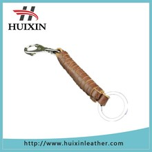 Fashionable key circle with unique genuine leather holder for key ring circle
