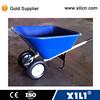 Large stable plastic wheelbarrow WB9600 with twin pnuematic wheel