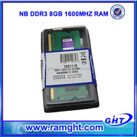 Branded export surplus ram 8gb ddr3 1600mhz laptop