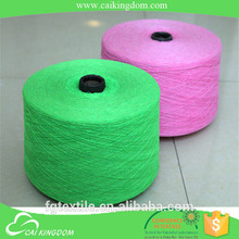 Ne 20/1 dyed Cotton polyester blended knitting yarn factory(cotton yarn) name brand cai kingdom