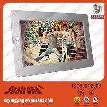 digital photo frame support photo/music/video OEM muti-functional good feedback engraved digital photo frame