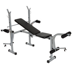 WEIGHT BENCH PRESS W282 AND BARBELL ADJUSTABLE CURLS HOME GYM EXERCISE EQUIPMENT