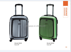 20inch GREEN female and ladies beauity model carry-on ABS travel luggage with password lock