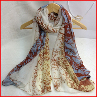 Custom Chinese Made Factory Long Fashion Designer Italian Spring Wholesale 100% Silk Scarf