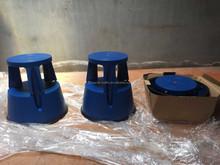 European standard 150kgs max loading plastic step stool with wheels