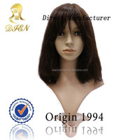 Real Human Hair For Sale China Silky Straight With Bangs Full Lace Wigs