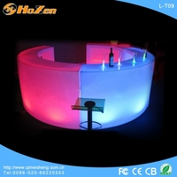 Supply all kinds of mdf bar LED table,restaurant interactive LED table