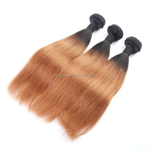 2015 Best Selling Products Hot Sale straight hair, 1b/27# Brazilian Hair From Brazil