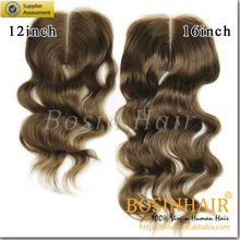 4*4 fashion looking wholesale virgin brazilian hair closure by factory