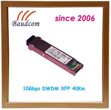excellent wavelength stability 10Gbps DWDM XFP 40Km fiber optic transceiver
