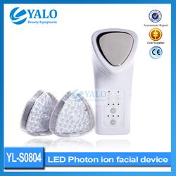 Beuaty equipment 2 color photon led + ion skin rejuvenation massager YL-S0804