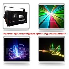 CLUB 532nm 450nm 635nm 1200mw rgb Animation DMX512/Sound/Auto ILDA Stage Laser Show Disco DJ Bar