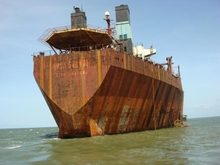 A scrap ship for sale