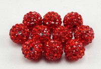 Retail and wholesale polymer clay round crystal ball beads for bracelet and shamballa jewelry