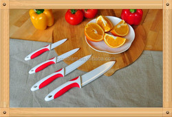 4 pcs Safe and Healthy Ceramic Knife, Eco-friendly, professional chef knife set with two colors handle