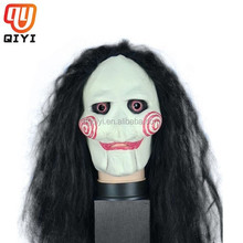 Face Mask Horror Scared Latex Mask Imitate The Casting Of Saw Masquerade Accessories