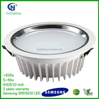 200mm cut hole 230V 20W Recessed LED Downlight Luminaire