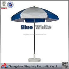 8ribs fancy new blue and white color outdoor sunscreen beach umbrella
