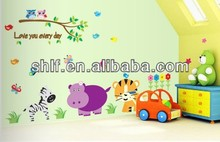 cute animal cartoon wall stickers kids