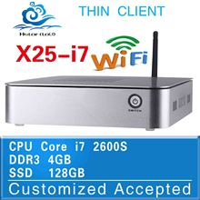 Computer Dual Core CPU Intel Core i7 X25-I7 2600s Mini Desktop PC i7 2600s Window 8.1/7/Linux/Xp 4G/128G Thin Client