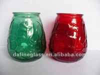High Quality color painted round glass Candle Holder