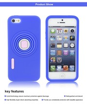silicone case shaped Telescopic cameras for iphone 5, cheap case with support stand for iphone 5