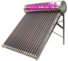 180L compact unpressurized Stainless Steel solar water heater system flat plate solar collector