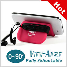 Hot!!2015 new products best selling adjustable Silicone Mobile Phone Holders