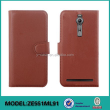Wallet leather case with card slots for ASUS ZENFONE 2 ,Stand leather case for ASUS ZENFONE 2