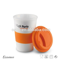 Custom 150ml blank coffee mug with lid